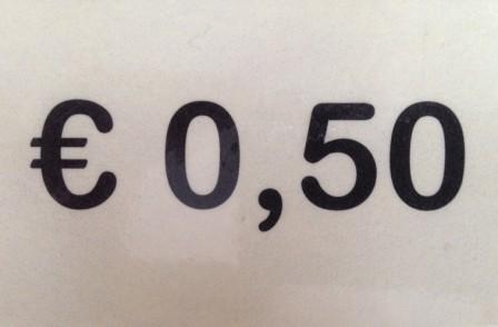 € 0,50 per stuk